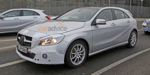 Mercedes-Benz A-Class facelift captured inside and out