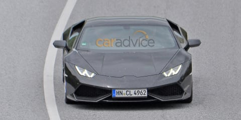 Lamborghini Huracan Superveloce spy photos