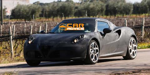 Alfa Romeo 4C: Italian sports car spied testing