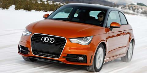 Audi A1 Quattro prototype snow testing in Canada