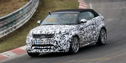 Range Rover Evoque Convertible spied in Sweden, on Nurburgring