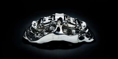 Bugatti unveils 3D-printed titanium brake caliper