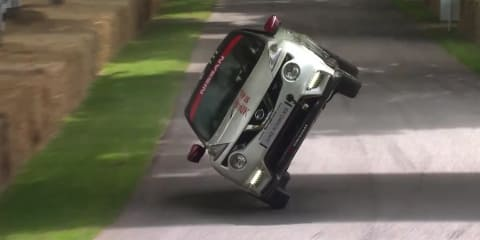 Nissan Juke Nismo RS sets new world record for a mile on two wheels
