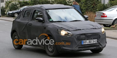 2017 Suzuki Swift:: next-generation city car spied