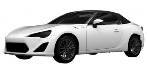 Toyota 86 Convertible: patent images reveal fabric roof design