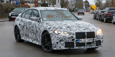 2021 BMW M3 spied with manual gearstick