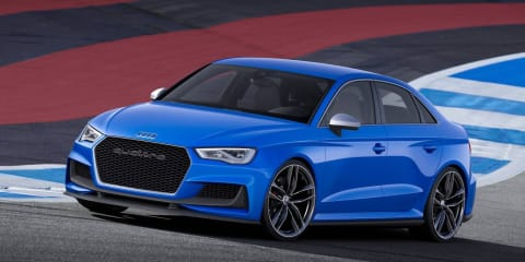 Audi RS3 sedan edging closer