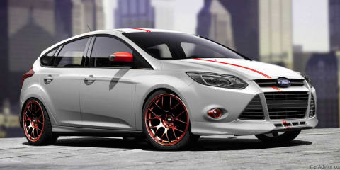 Ford Focus and Fiesta show cars at 2011 SEMA
