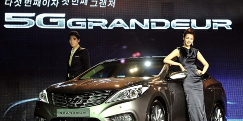 2012 Hyundai Grandeur unveiled in Korea