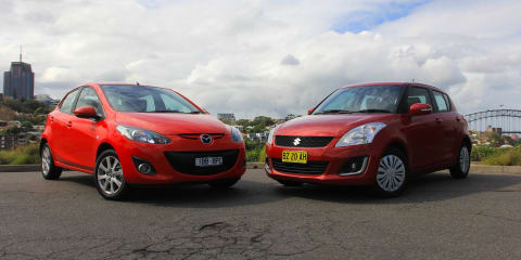 Mazda 2 v Suzuki Swift: Comparison review