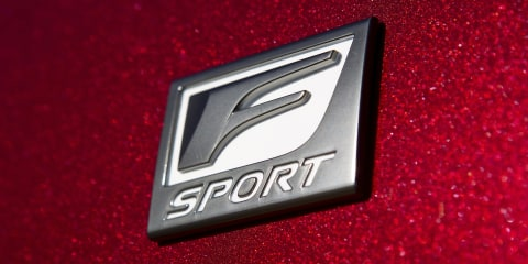 Lexus F Sport models accelerating out of showrooms