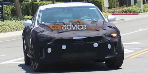 2017 Kia GT sports sedan spied testing