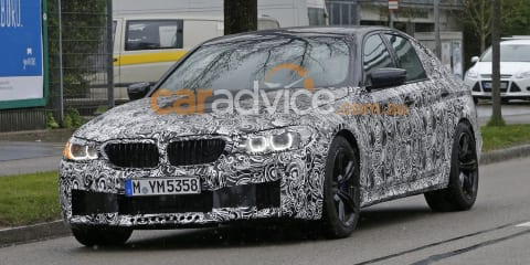 2017 BMW M5 sedan and 5 Series wagon spied with less camouflage
