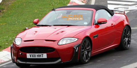 2012 Jaguar XKR-S Convertible spied at the Nurburgring