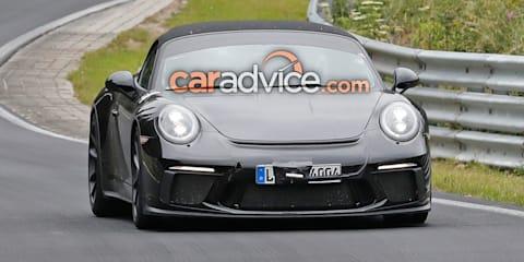 Porsche 911 Speedster spied again