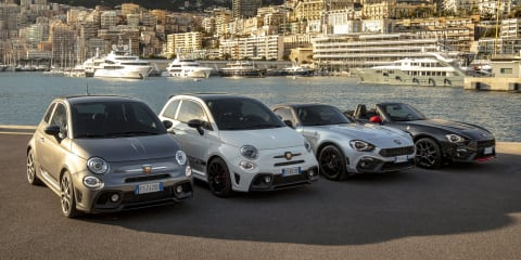 Abarth 595, 124 Spider 70th Anniversary editions unveiled in Europe