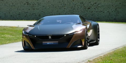 Peugeot Onyx concept bound for Goodwood, taking passengers