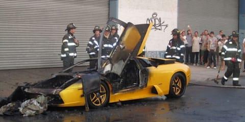 Lamborghini Murcielago Fire Caused by Cheap Wiring