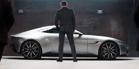 Aston Martin DB10 roars into life for new James Bond Spectre trailer:: video