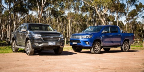 Holden Colorado LTZ v Toyota HiLux SR5 comparison