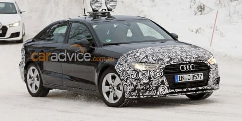 2016 Audi A3 sedan facelift spied testing