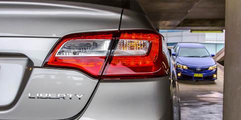 Medium Sedan Comparison : Toyota Camry v Mazda 6 v Hyundai Sonata v Subaru Liberty