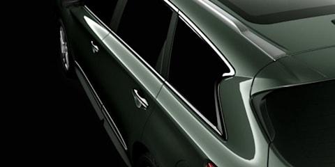 2013 Infiniti JX C-pillar image revealed