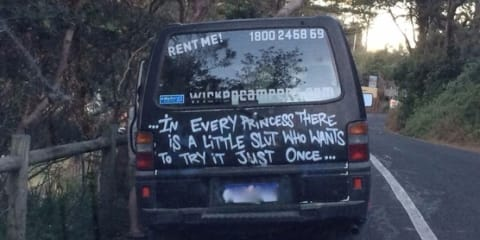 Wicked Campers embroiled in controversy over crude slogans