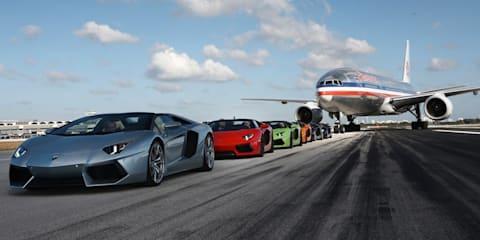 Lamborghini Aventador LP 700-4 Roadster takes off in Miami