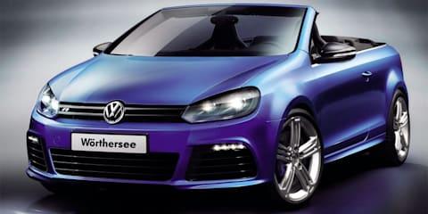 Volkswagen Golf R Cabriolet, Golf GTI Cabriolet concepts unveiled