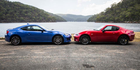 Mazda MX-5 RF v Subaru BRZ comparison