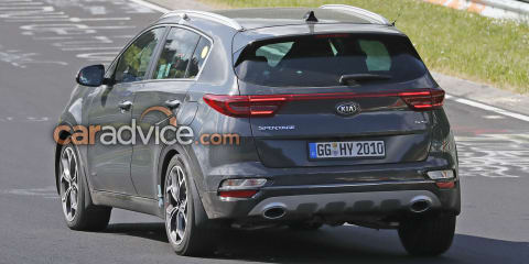 2019 Kia Sportage facelift spied undisguised