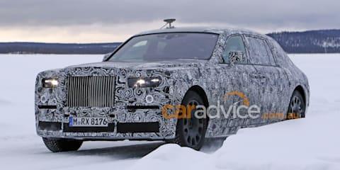 2017 Rolls-Royce Phantom spy photos