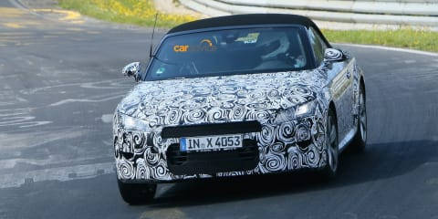 2015 Audi TT Roadster caught testing at the Nurburgring
