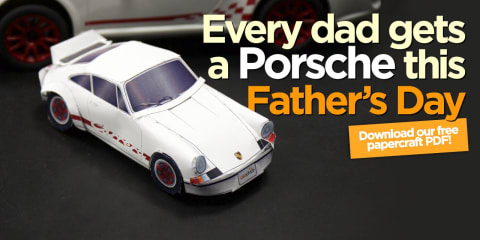Father's Day 2015 :: Porsche 911 Carrera RS 2.7 papercraft model