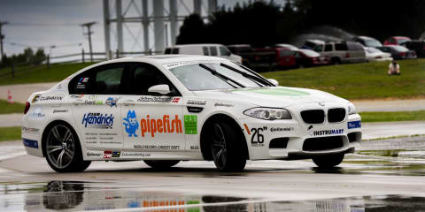 BMW M5 sets new drifting world record