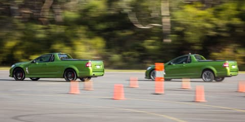 304kW Holden Commodore VFII v 270kW Commodore VF drag race