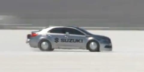 Suzuki Kizashi does 327km/h in Bonneville Salt Flats (video)