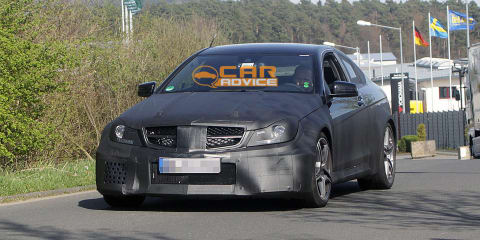 2012 Mercedes-Benz C 63 AMG Coupe Black Series spied