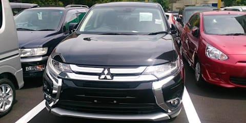 2016 Mitsubishi Outlander PHEV facelift spied