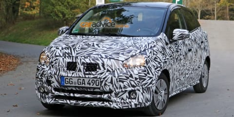 2016 Mitsubishi Mirage hatchback facelift spy photos