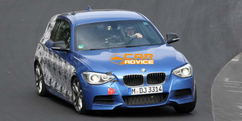 BMW M135i spy shots