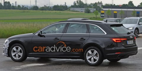 2019 Audi A4 facelift spied