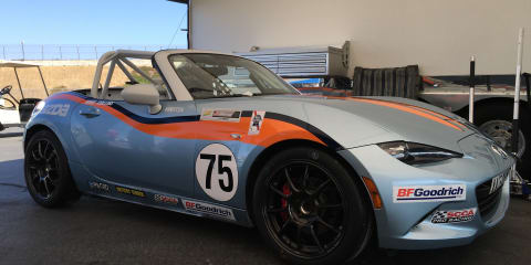 Mazda MX-5 Cup car: driver set-up at Mazda Raceway Laguna Seca
