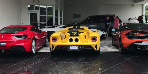 Ferrari 488 v Ford GT v McLaren 720S rev battle – Video