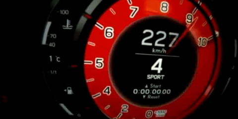 Video: Lexus LFA launch control tachometer close-up