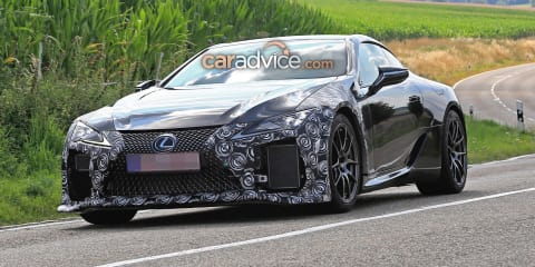 2020 Lexus LC F spied for the first time