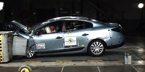 Crash test results: Jaguar XF, Jeep Grand Cherokee, Renault Fluence Z.E. miss top safety rating