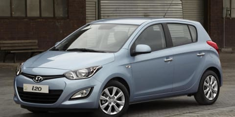 2012 Hyundai i20 facelift in Australia by midyear