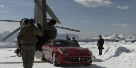 Video: Ferrari FF delivered to mountain-top by Chinook helicopter